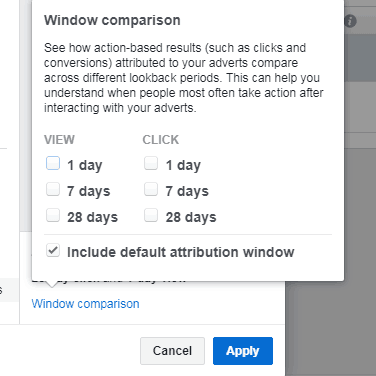 Attribution Window Comparison