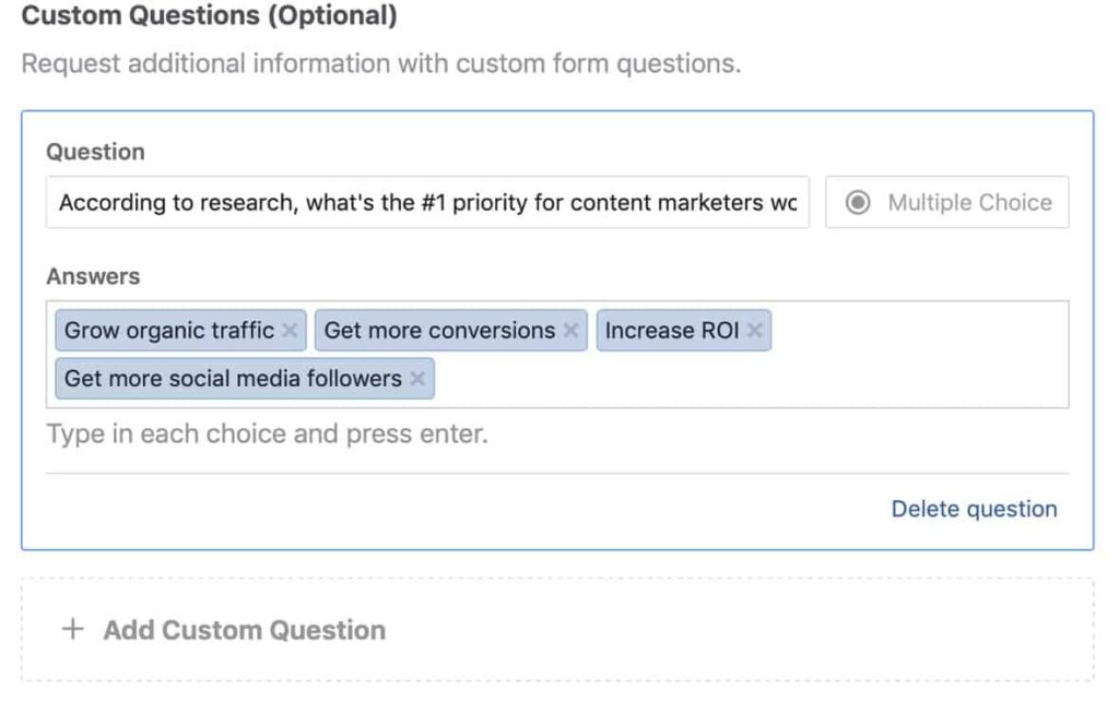 Use Quizzes for Lead Generation on Facebook. It a simple yet effective tactic.